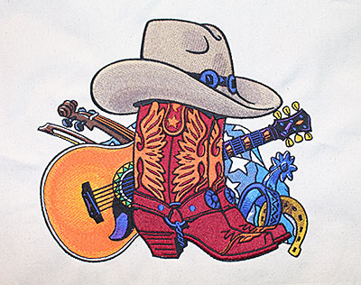 Cowboy Boots embroidery design