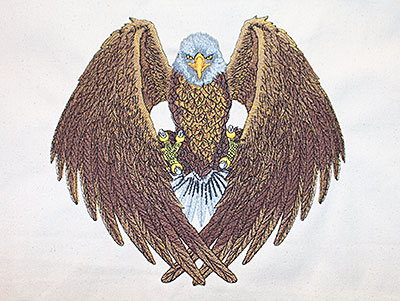 Eagle Pride embroidery design