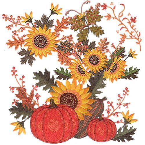 Elegant Autumn Embroidery Design Pack