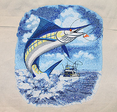 marlin jumbo embroidery design