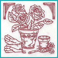 garden redwork design
