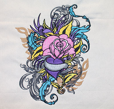 love and roses jumbo embroidery design
