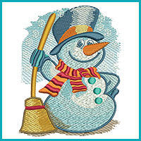 seasonal winter embroidery design category icon