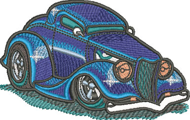 3 window car embroidery design