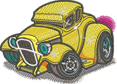30 A model coupe embroidery design
