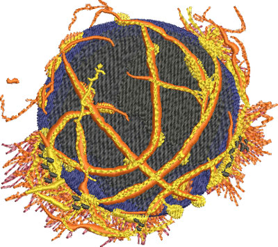 lava basketball embroidery design