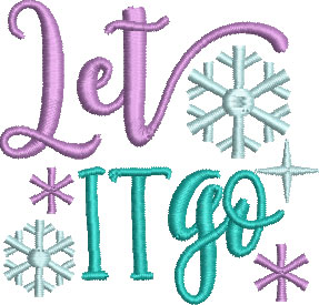 Let It Go TP embroidery design
