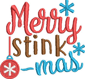 Merry Stinkmas TP embroidery design