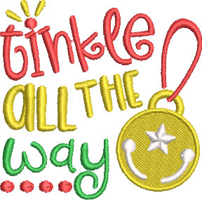 tinkle all the way embroidery design