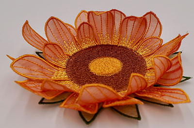 3d flower coaster project embroidery design