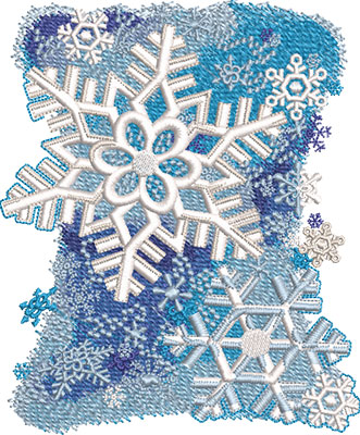 snowflake shower embroidery design