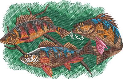 perch embroidery design