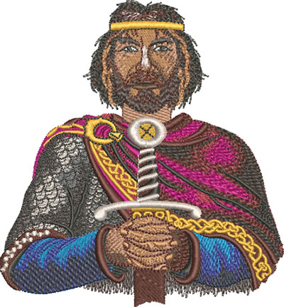 king arthur embroidery design