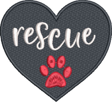 rescue embroidery design