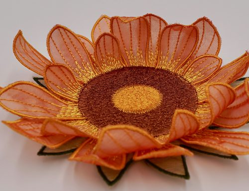 How to Create Your In-the-Hoop Embroidery Flower Coaster