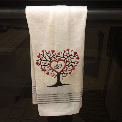 How to Embroider Terry Cloth Towels Example