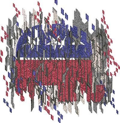 republican digitial flag embroidery design