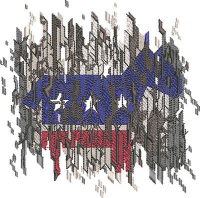 democrat digitial flag embroidery design