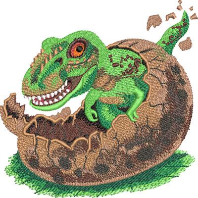 baby dinosaur egg embroidery design