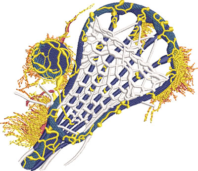 lava ball lacrosse embroidery design