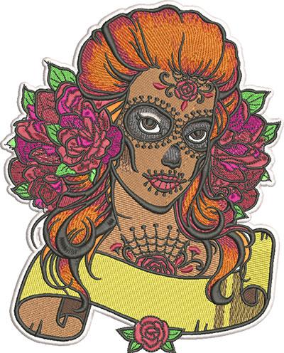 sugar girl 3 embroidery design