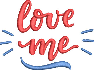 Love me embroidery design