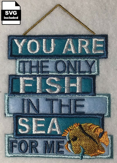 only fish in the sea embroidery design