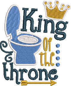 king of the throne embroidery design