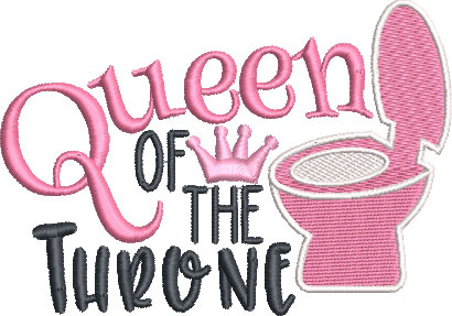 queen of the throne embroidery design