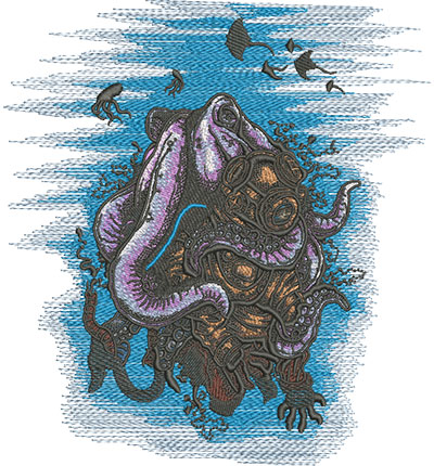 deep water mystery embroidery design
