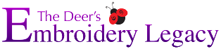 The Deer's Embroidery Legacy Logo