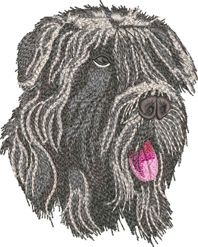 Bouvierdes Flandres dog embroidery design