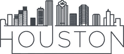 houston city skylines embroidery design