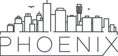 phoenix city skyline embroidery design