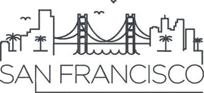 san francisco skyline embroidery design