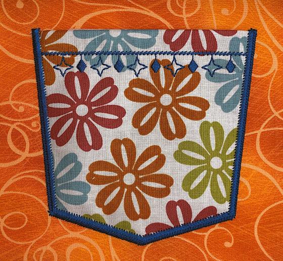 fashion pocket 1 embroidery design