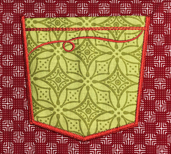 fashion pocket 2 embroidery design