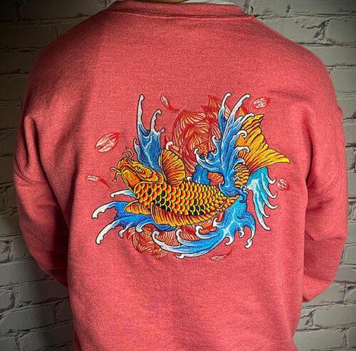japanese koi sweatshirt