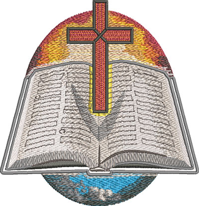 floating bible embroidery design