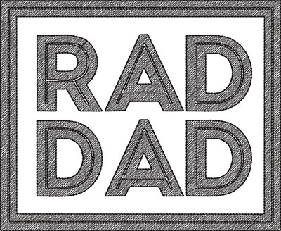 rad dad embroidery design