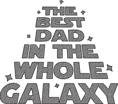 best dad in the galaxy embroidery design
