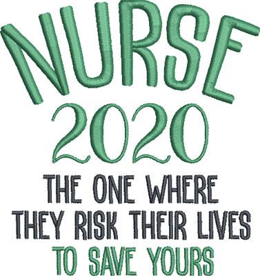 nurse embroidery design 5
