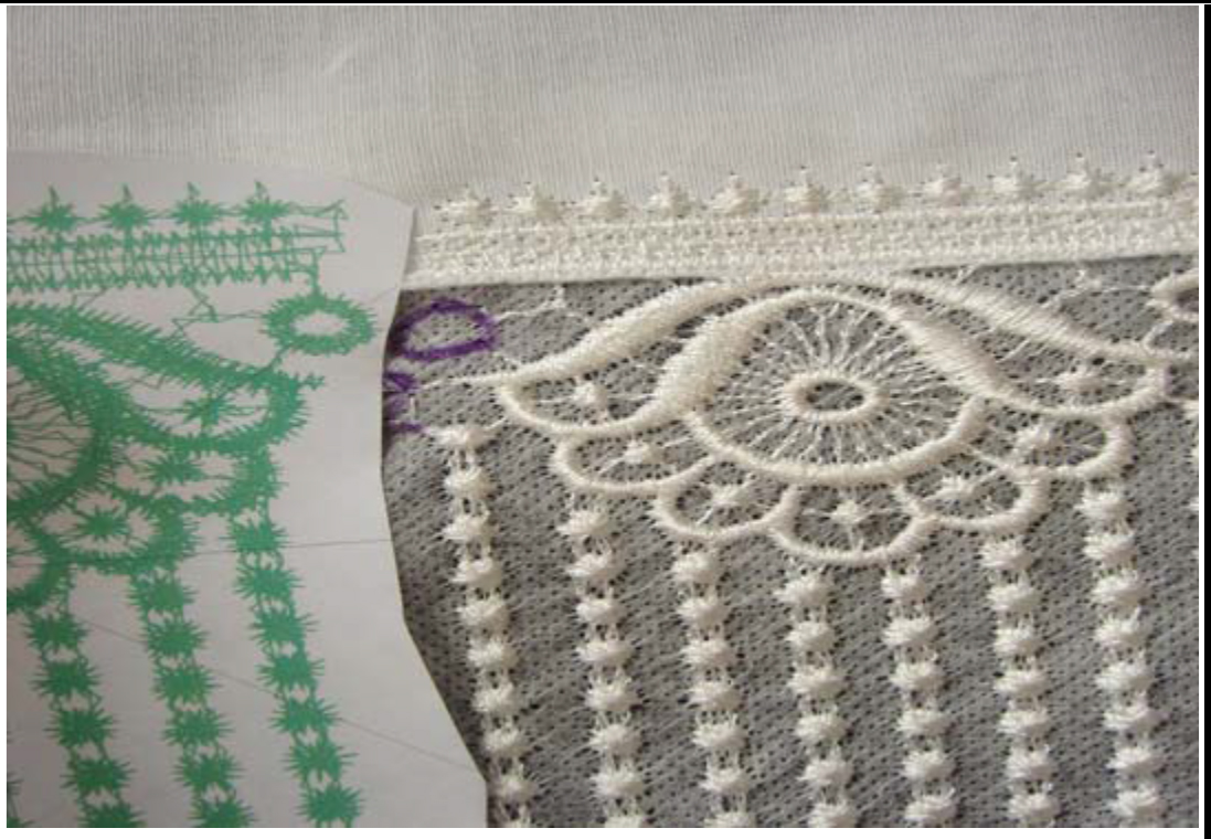 aligning continuous lace