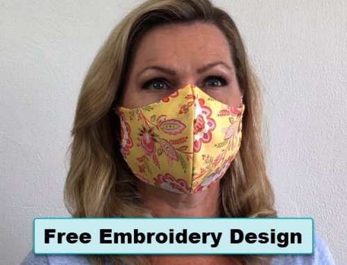 Free In-The-Hoop Face Mask Embroidery Design & Tutorial