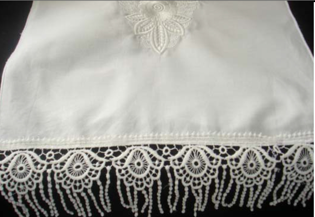 embroidered lace garment