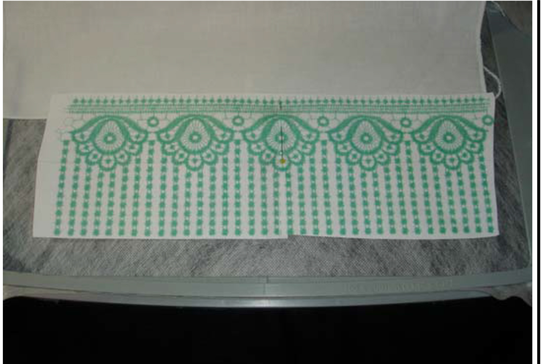 continuous lace template
