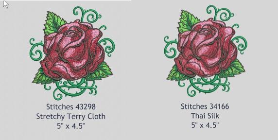 rose design fabric assist