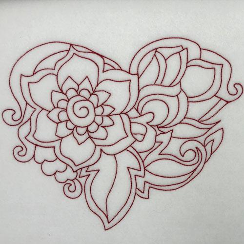 embroidery digitizing challenge heart design