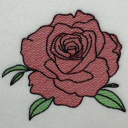 embroidery digitizing challenge rose design