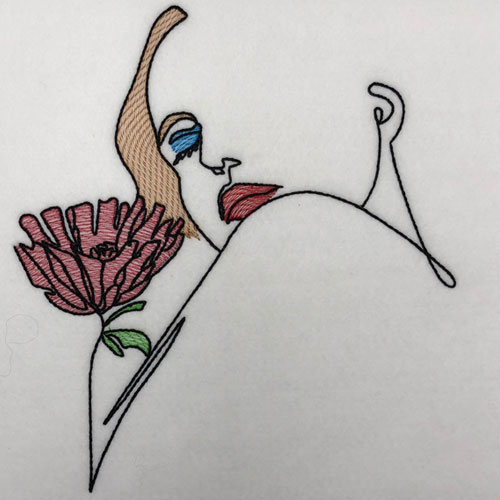 embroidery digitizing challenge artistic woman design